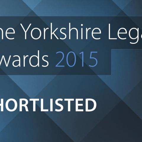Bond Dickinson shortlisted in Yorkshire Legal Awards 2015